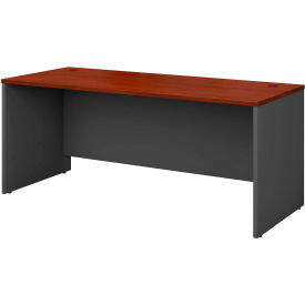 Managers Desk Shell In Hansen Cherry - Office Furniture Groupings