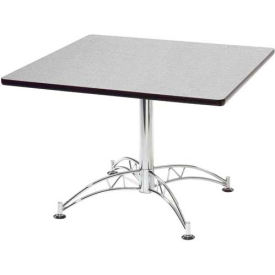 """OFM 36"""" Multi-Purpose Square Table with Chrome-Plated Steel Base, Gray Nebula"""