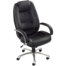 Saddle Stitched High Back Leather Chair