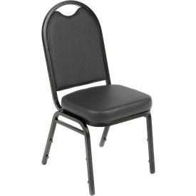 Westchester Vinyl Stackable Chair Black - Pkg Qty 4