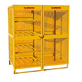 """Jamco Cylinder Storage Cabinet CX100- Combo Double Door 8 & 10 Cylinders - 64""""W x 40""""D x 71""""H"""