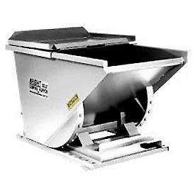 Wright SS10077 1 Cu Yd Stainless Steel HD Self-Dumping Forklift Hopper