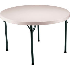 "Lifetime® Portable Round Folding Table 48"" - Almond"