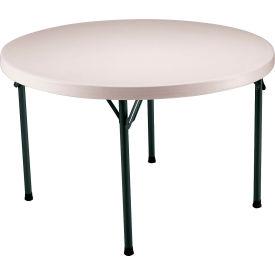 """Lifetime® Portable Round Folding Table 48"""" - Almond"""