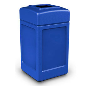 42 Gallon Square Waste Receptacle, Blue - 732104