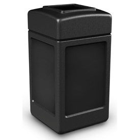 42 Gallon Square Waste Receptacles, Black - 732101
