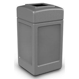 42 Gallon Square Waste Receptacle, Gray - 732103