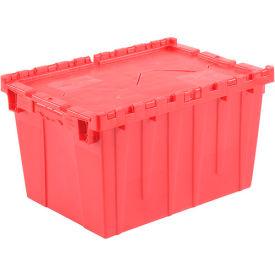 Plastic Storage Totes - Shipping Hinged Lid  DC2115-12 21-7/8 x 15-1/4 x 12-7/8 Red - Pkg Qty 6