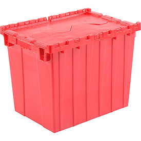 Distribution Container With Hinged Lid 21-7/8x15-1/4x17-1/4 Red