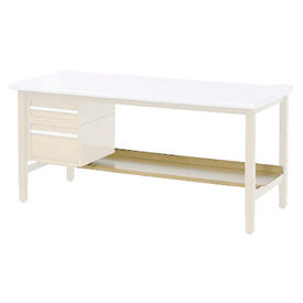 "48""W Lower Shelf For Bench - 15""D- Tan"