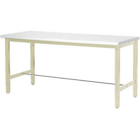 """60""""W x 30""""D Production Workbench - ESD Laminate Safety Edge - Tan"""