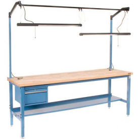 """Overhead Fluorescent Light Kit With Bulbs For 96""""W Workbench"""