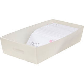 Corrugated Plastic Mail Tray 24-1/2 X 12 X 4-1/2 White