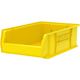 """Akro-Mils Super-Size AkroBin® 30280 - Stacking Bin 12-3/8""""W x 20""""D x 6""""H  Yellow - Pkg Qty 4"""