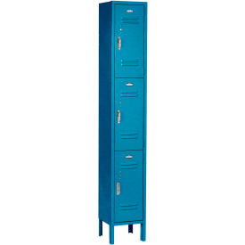 Paramount® Locker 3 Tier 12 X 15 X 24 3 Door Ready To Assemble Blue