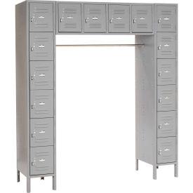 Paramount® 16 Person Locker 12  X 18 X 12 Ready To Assemble Gray