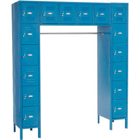 Paramount® 16 Person Locker 12  X 18 X 12 Ready To Assemble Blue