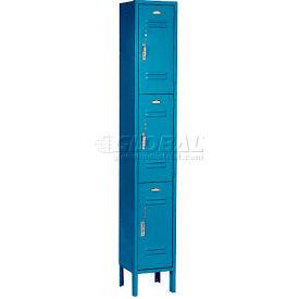 Paramount® Locker 3 Tier 12 X 15 X 24 3 Door Assembled Blue