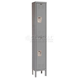 Hallowell U1256-2A-HG Premium Locker Double Tier 12x15x30 2 Door Assembled Gray