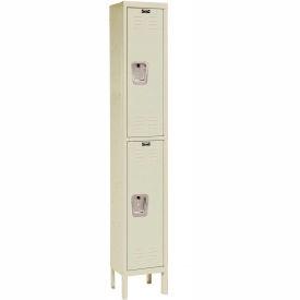 Hallowell U1286-2A-PT Premium Locker Double Tier 12x18x30 2 Door Assembled Parchment