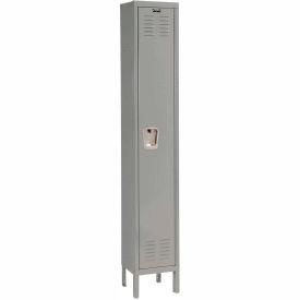 Hallowell U1256-1HG Premium Locker Single Tier 12x15x60 1 Door Ready Assemble Gray