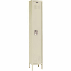 Hallowell U1258-1PT Premium Locker Single Tier 12x15x72 1 Door Ready Assemble Parchment