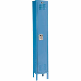 Hallowell U1228-1A-MB Premium Locker Single Tier 12x12x72 1 Door Assembled Blue