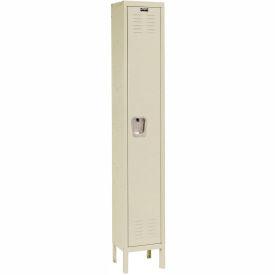 Hallowell U1558-1A-PT Premium Locker Single Tier 15x15x72 1 Door Assembled Parchment
