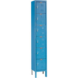 Hallowell U1288-6MB Premium Locker Six Tier 12x18x12 6 Door Ready To Assemble Blue