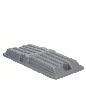 Gray Lid for 1 Cubic Yard Gray, Red, Black & Recycling Blue Deluxe Plastic Tilt Trucks