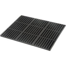 Cushion Modular Matting 5/8 Inch Thick 3' X 3' Drainage Black