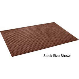 """Heavyweight Indoor Entrance Mat 3/8"""" Thick 48""""W Cut Length Up To 60 Ft Brown"""
