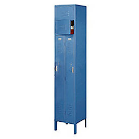 Penco 6503V-1806-KD VanGuard Two Person Locker 15x18x72 Ready To Assembled 1 Wide Marine Blue