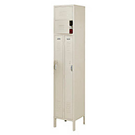 Penco 6505V-1073-KD VanGuard Two Person Locker 15x21x72 Ready To Assembled 1 Wide Champagne