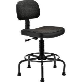 Desk Stool - Fabric - Black