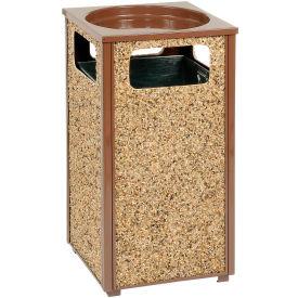 "Global™ Stone Panel Trash Sand Urn Brown 17-1/2"" Square X 32""H"