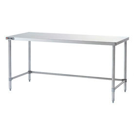 "Aero Manufacturing 2TSX-3048 48""W x 30""D 14 Gauge Stainless Steel Crossbraced Leg Table"