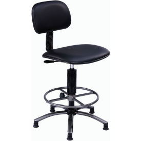 "Office Stool - Vinyl -  21""- 25"" - Black"