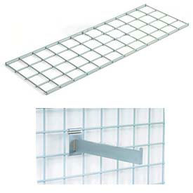 """48""""X12"""" Wire Shelves With Brackets Package Of 2"""