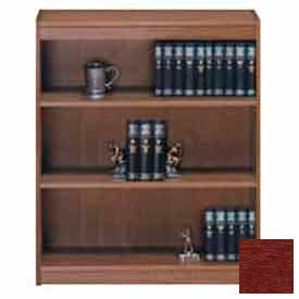 "Unassembled 48""H Contemporary Square Edge Bookcase Medium Cherry"