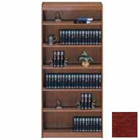 "Unassembled 72""H Contemporary Square Edge Bookcase Medium Cherry"