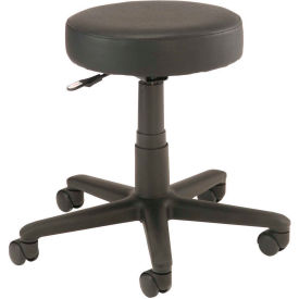 Interion™ All Purpose Vinyl Scooter Stool - Black
