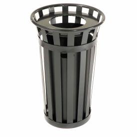 Global Industrial™ Outdoor Metal Waste Receptacle - 24 Gallon Black
