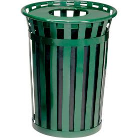 Global Industrial™ Outdoor Metal Waste Receptacle - 24 Gallon Green