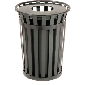 Global™ Outdoor Metal Waste Receptacle - 36 Gallon Black