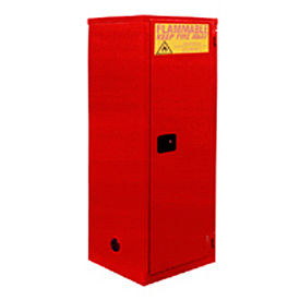 "Global™ Paint & Ink Storage Cabinet - Manual Close Single Door 18 Gallon - 23""W x 18""D x 35""H"