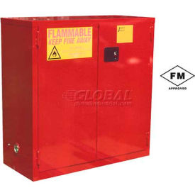"Global&#8482 Paint & Ink Storage Cabinet - Manual Close Single Door 24 Gallon - 23""W x 18""D x 44""H"