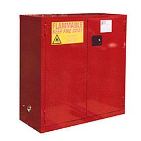 "Global&#8482 Paint & Ink Storage Cabinet - Manual Close Double Door 48 Gallon - 43""W x 18""D x 44""H"