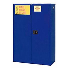 "Global&#8482 Acid Corrosive Cabinet - Self Close Double Door 45 Gallon - 43""W x 18""D x 65""H"