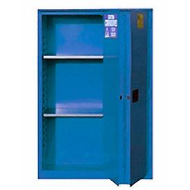 "Global&#8482 Acid Corrosive Cabinet - Manual Close Bi-Fold Single Door 30 Gallon - 43""W x 18""D x 44"""